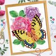 """:  - Вышивка бисером и пайетками """"Бабочка"""", 28 x 35 см"""