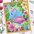 ":  - Вышивка бисером и пайетками ""Фламинго"", 28 x 35 см"