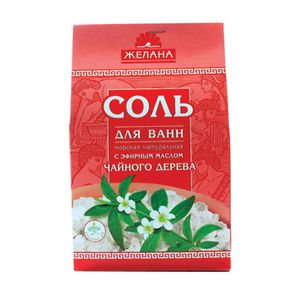 :  - Соль для ванн морская натуральная с эфирным маслом чайного дерева. 540 гр