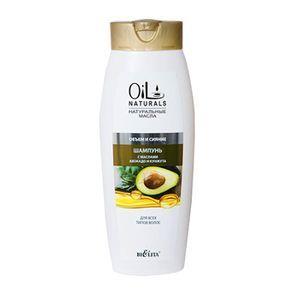 """:  - Шампунь с маслами авокадо и кунжута для всех типов  волос """"Объем и Сияние"""".  430 мл"""