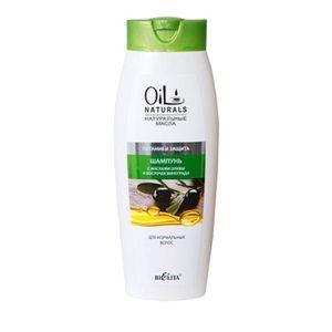 """:  - Шампунь с маслами оливы и косточки винограда для нормальных волос """"Питание и Защита """". 430 мл"""