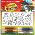 """:  - Набор витражных красок с самоклеящимися трафаретами """"Динозавры"""""""