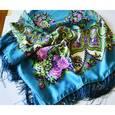 :  - Павловопосадский платок  120х120 см, синий